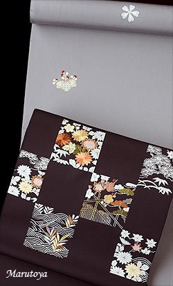 江戸刺繍と文様飛ばしの小紋