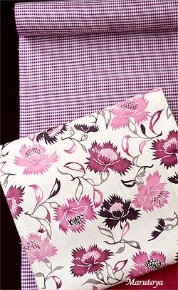草木染め手織紬と型絵染め帯