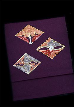 品川恭子 菱花紋 染帯