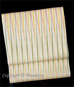 土屋順紀 草木染め紋紗織 帯