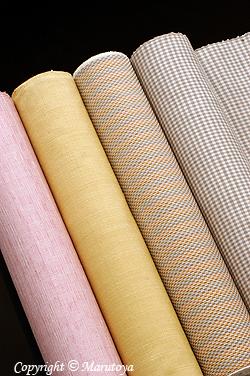 草木染め紬織
