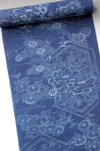 長板中形 本染め藍