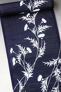 竺仙 地染まり綿絽 浴衣