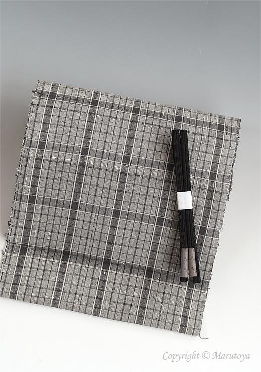 草木染め手織紬網代織 九寸名古屋帯:ばら染め