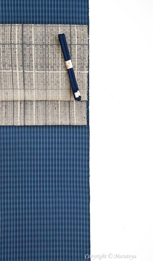 藍染め手織綿織物
