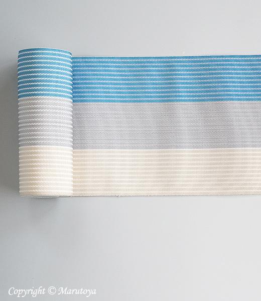 博多織半巾帯 絹麻