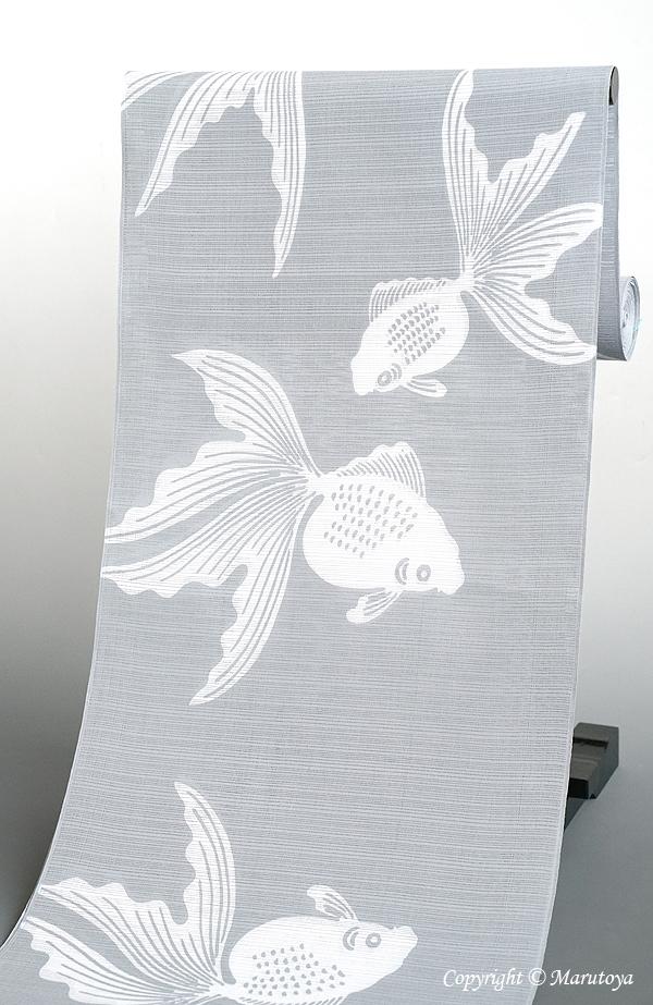 綿絽浴衣 金魚