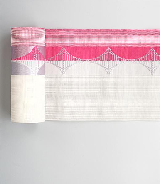 紗 博多織半巾帯
