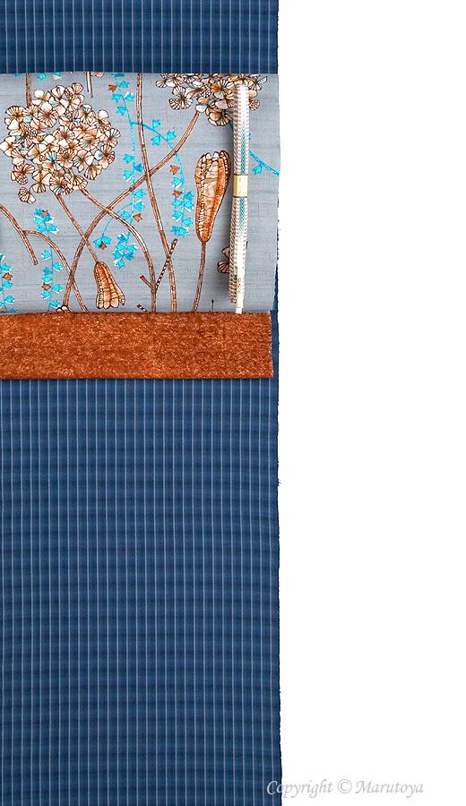 藍染め手織綿織物 原田吉郎