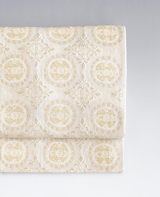洛風林:『連珠花文』袋帯