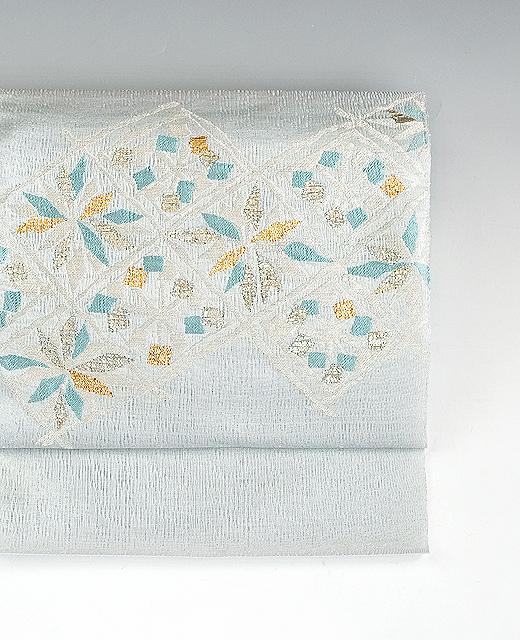 まこと織物:九寸名古屋帯/引き箔:よろけ織