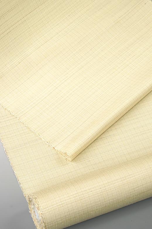 草木染め手織紬:刈安の緯かすみ織