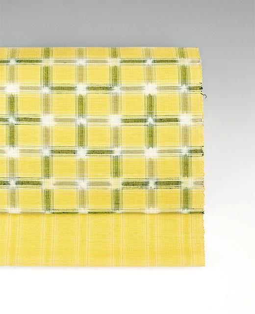 石黒祐子 制作:草木染め手織紬九寸名古屋帯