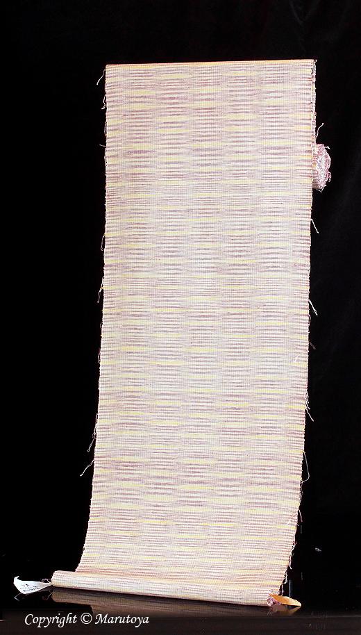 草木染め手織紬 緯霞み織