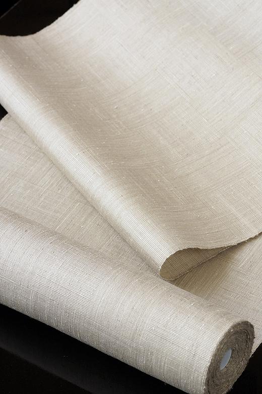 手織真綿紬:網代織