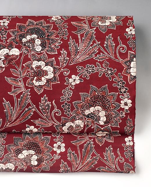 インドネシアジャワ更紗染め帯