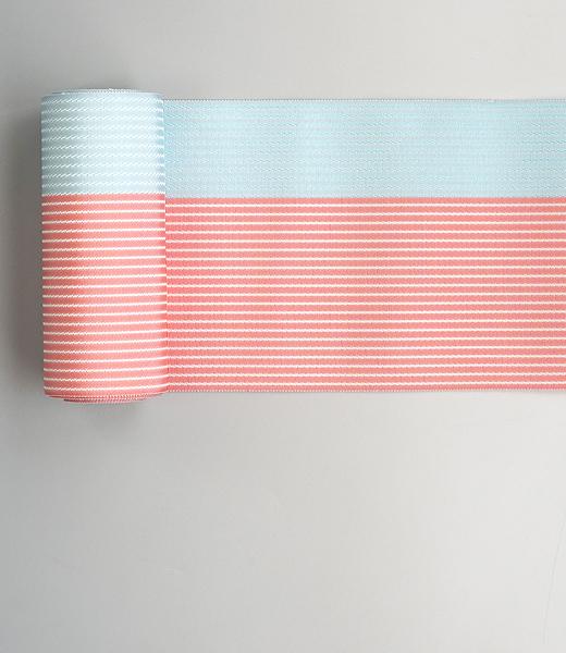 博多織 半巾帯:縞織(絹麻)