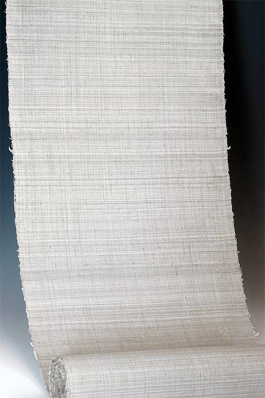 草木染め手織紬:ばら染め 緯やたら織