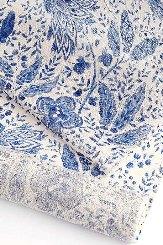 芝崎圭一 制作:草木染め手織紬:無地織/ログウッド