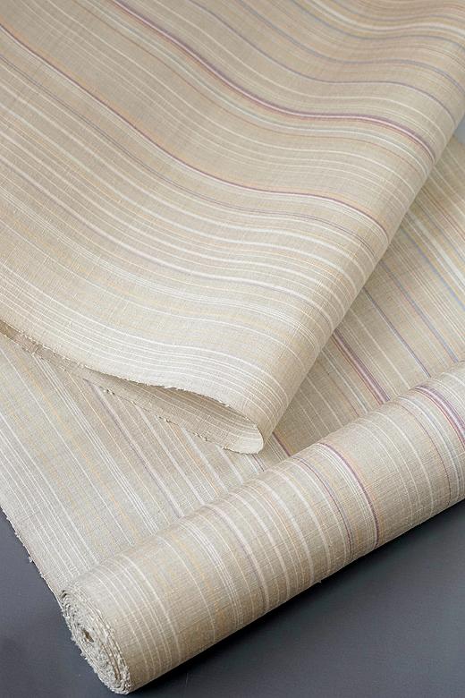 草木染め手織紬:みさやま紬(多彩縞)