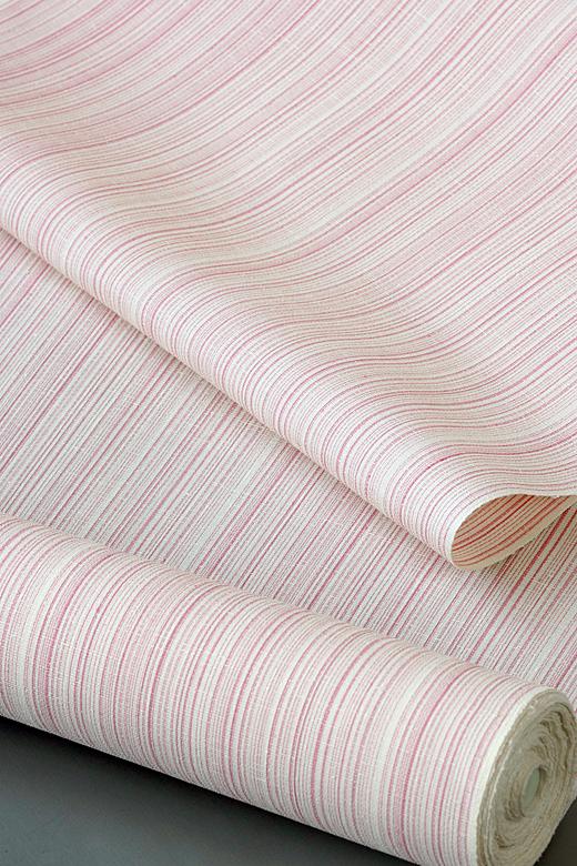 単衣/夏季織物:夏久米島 草木染め手織紬 乱れ縞