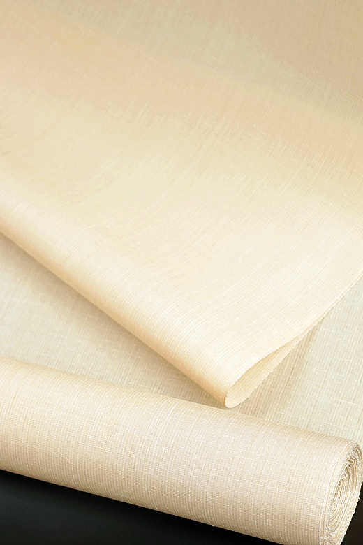 単衣/夏季織物:夏久米島 草木染め手織紬 無地織