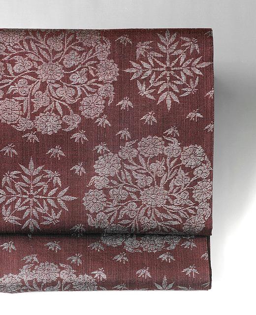 洛風林:袋帯/笹に菊華文