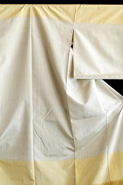 芝崎圭一 制作:草木染め織物:熨斗目/槐