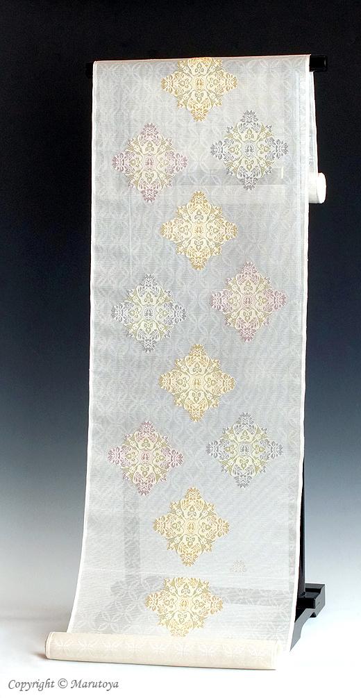 顕紋紗 有職織物 唐花筥形