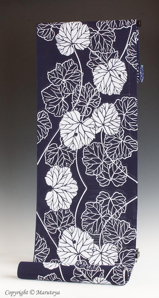 竺仙 ゆかた綿絽地染まり 石蕗
