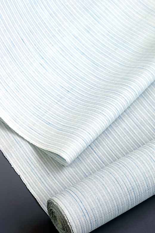 単衣/夏季織物:下井紬 乱れ縞(薄絹織)