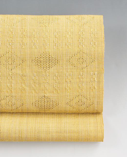 喜如嘉 芭蕉布 八寸名古屋帯:花織