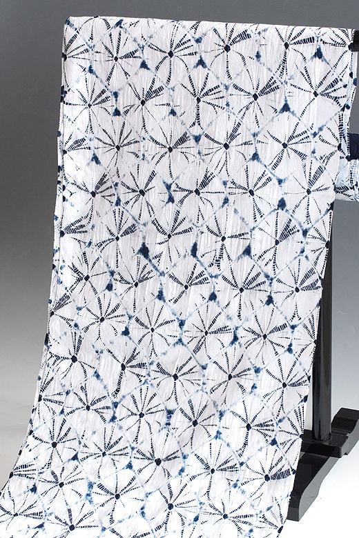有松絞り:天然藍染め 手蜘蛛絞り