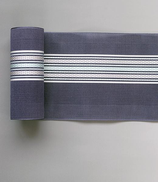 博多織 半巾帯:紗 紋縞織