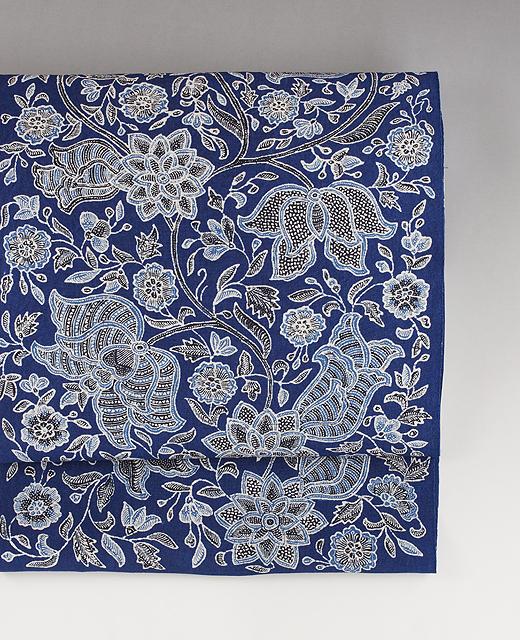 インドネシアジャワ更紗(Reisia):麻布染め帯
