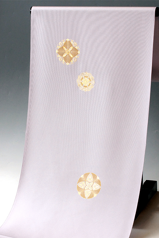 金彩刺繍付下 : 金彩華紋