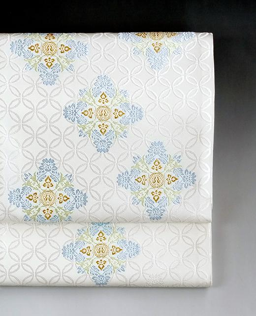 西陣織 袋帯/有職織物 唐花筥形