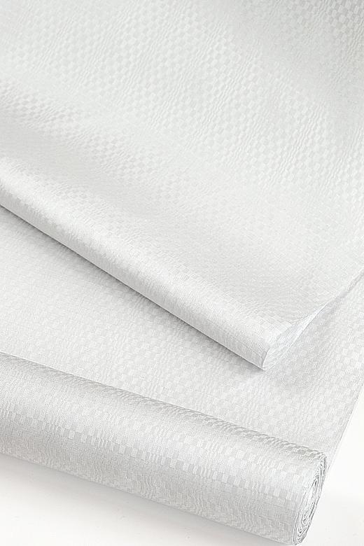 菊池洋守 制作:八丈織 変わり市松綾織 プラチナグレイ