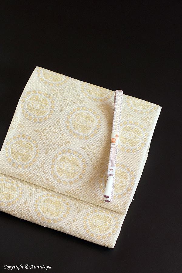 洛風林:連珠花文 袋帯