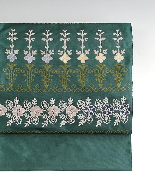 洛風林:九寸名古屋帯/ケンジントン刺繍