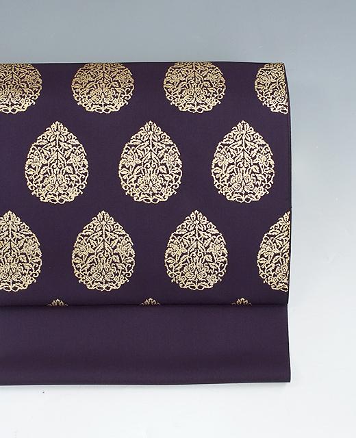 金泥染め帯:正倉院宝珠模様