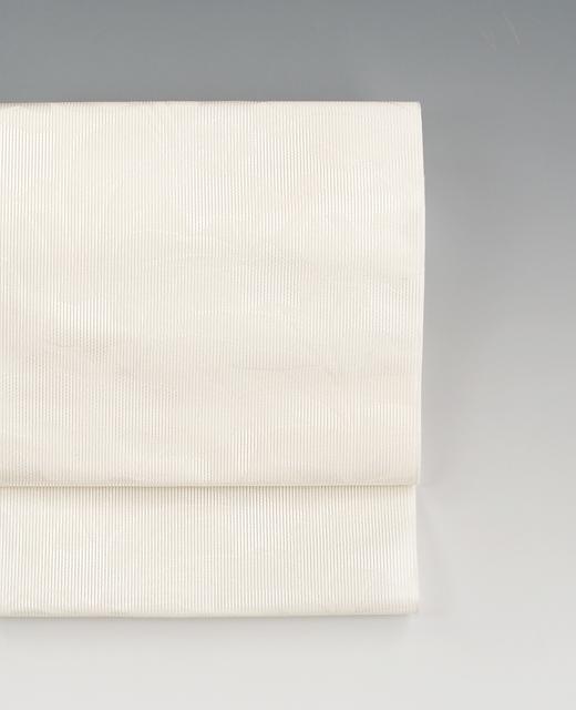 夏季 単衣:経絽八寸名古屋帯『桔梗』白