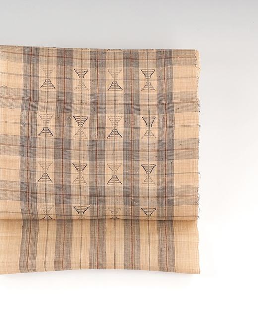 喜如嘉 芭蕉布 九寸名古屋帯:藍ヤシラミに手花織