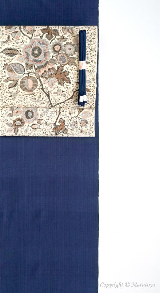 芝崎圭一 藍染め手織紬