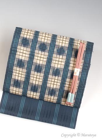 小島秀子 作:吉野格子絣織帯