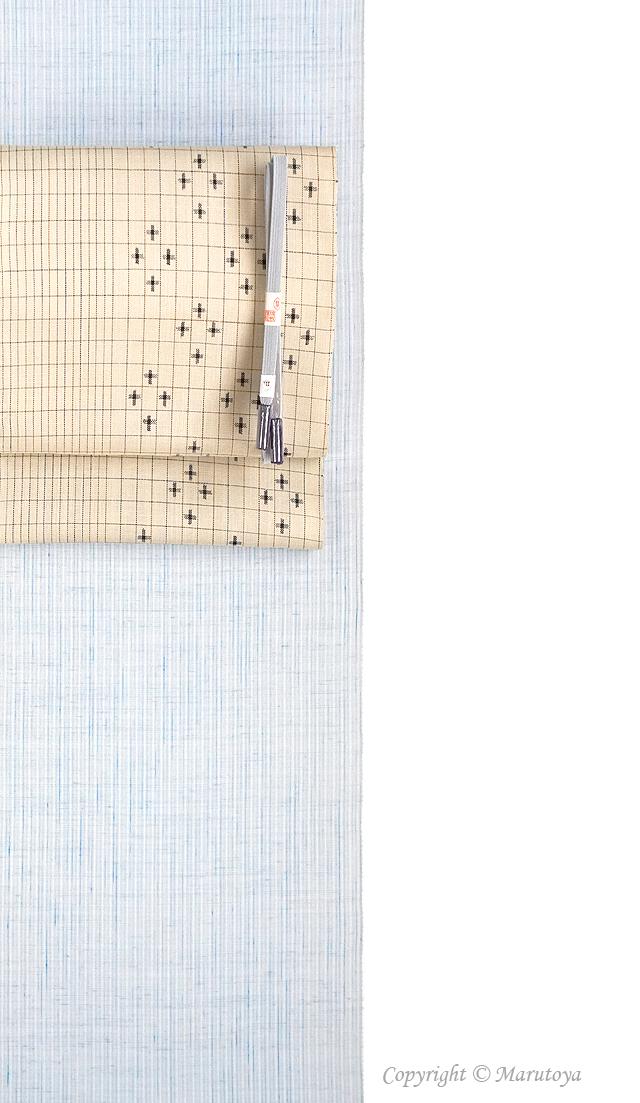 能登上布 絣織八寸帯