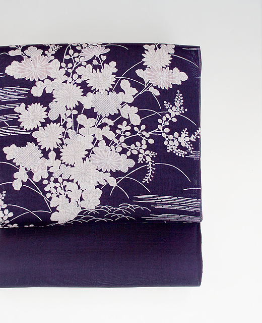 染繍舗 多ち花 :『御所解模様』生紬 染め帯